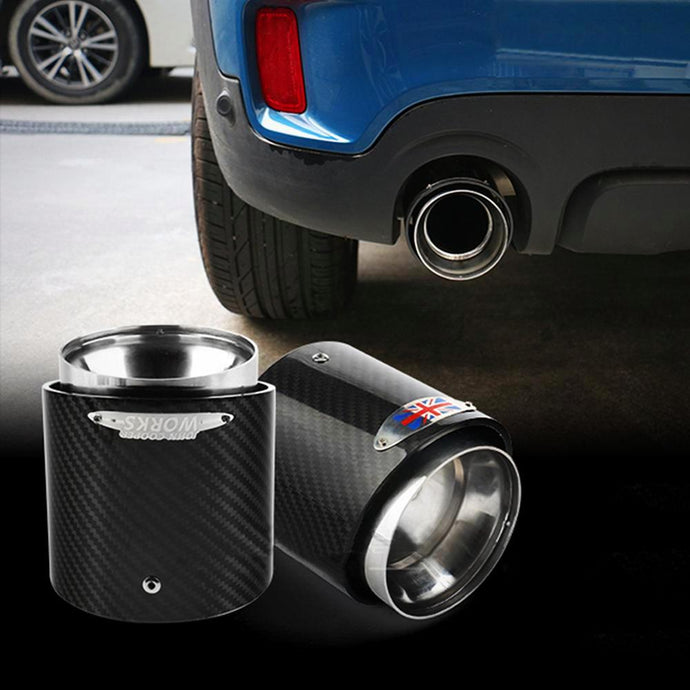 Carbon Fiber Stainless Steel Exhaust Pipes Tips
