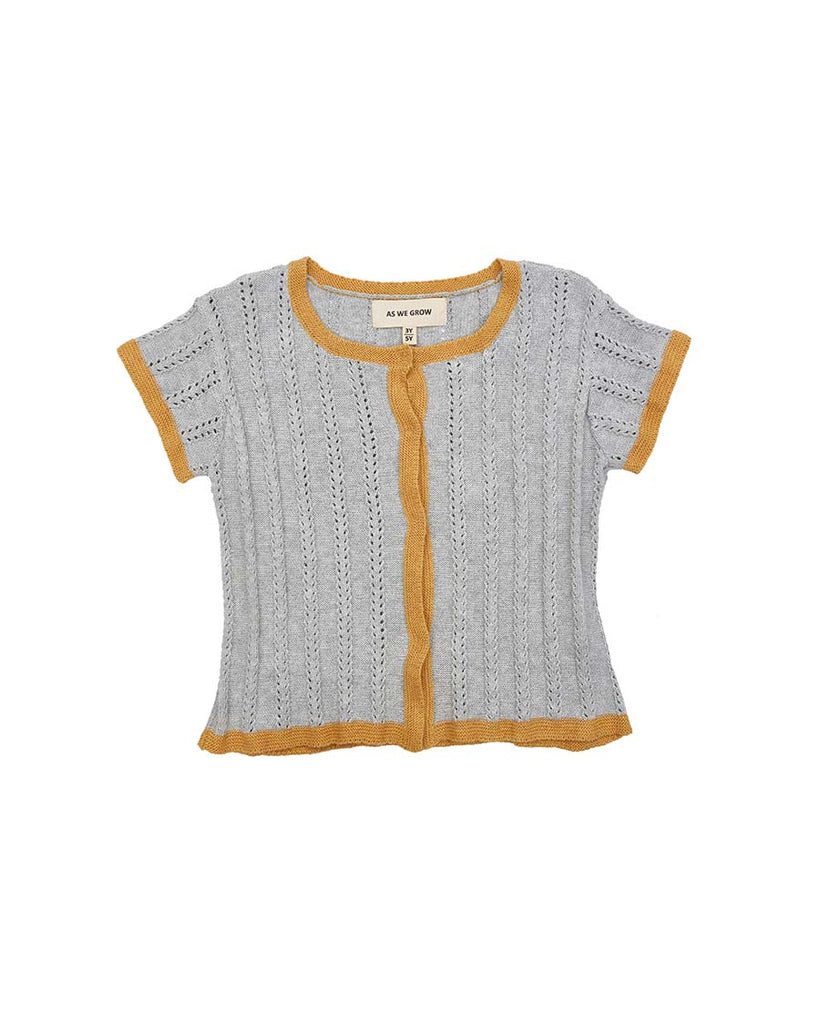 Short Sleeve Pointelle Cardi