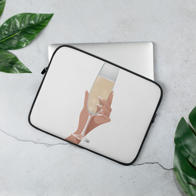 Champagne Please Laptop Sleeve