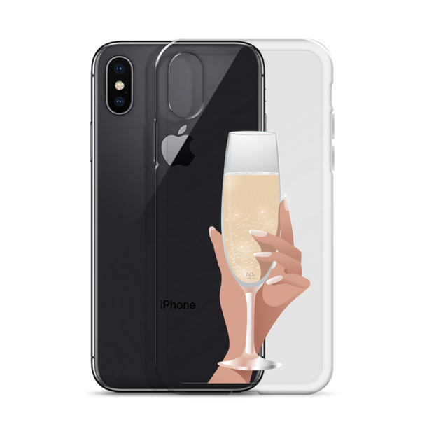 Champagne Please iPhone Case
