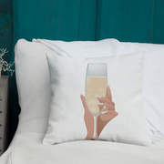 Champagne Please Premium Pillow