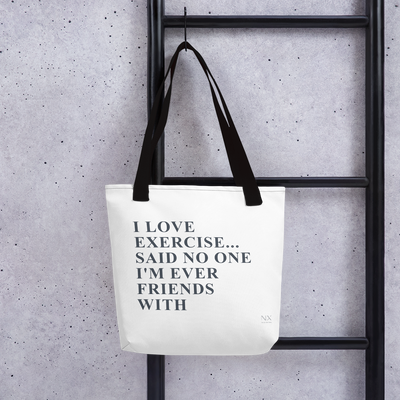 I Love Exercise Tote bag