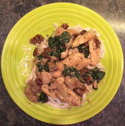 Creamy Chicken Sun-dried Tomato & Kale Dinner