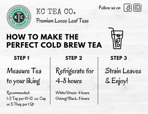 KC Tea Co. How to Make the Perfect Cold Brew Tea infographic