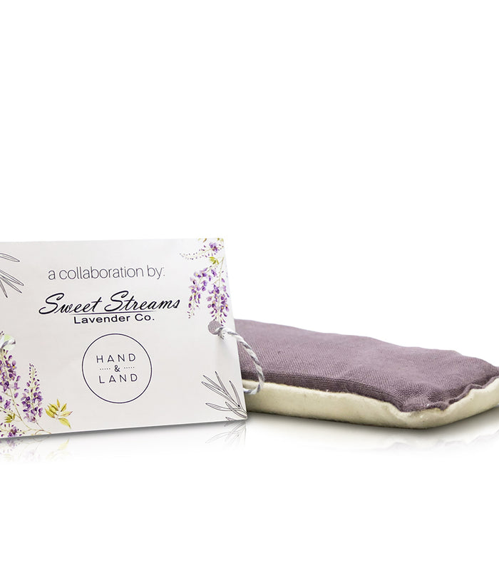 Sweet Streams Lavender Co. Lavender Purple Eye Pillow with Hand & Land collaboration