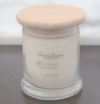 Sweet Streams Lavender Co. Lavender Bourbon Glass Candle