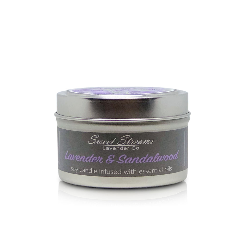 Sweet Streams Lavender Co. Lavender & Sandalwood Candle in metal tin- 6oz
