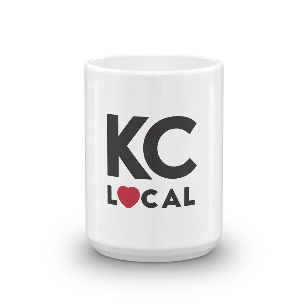 15oz White KC Local Mug