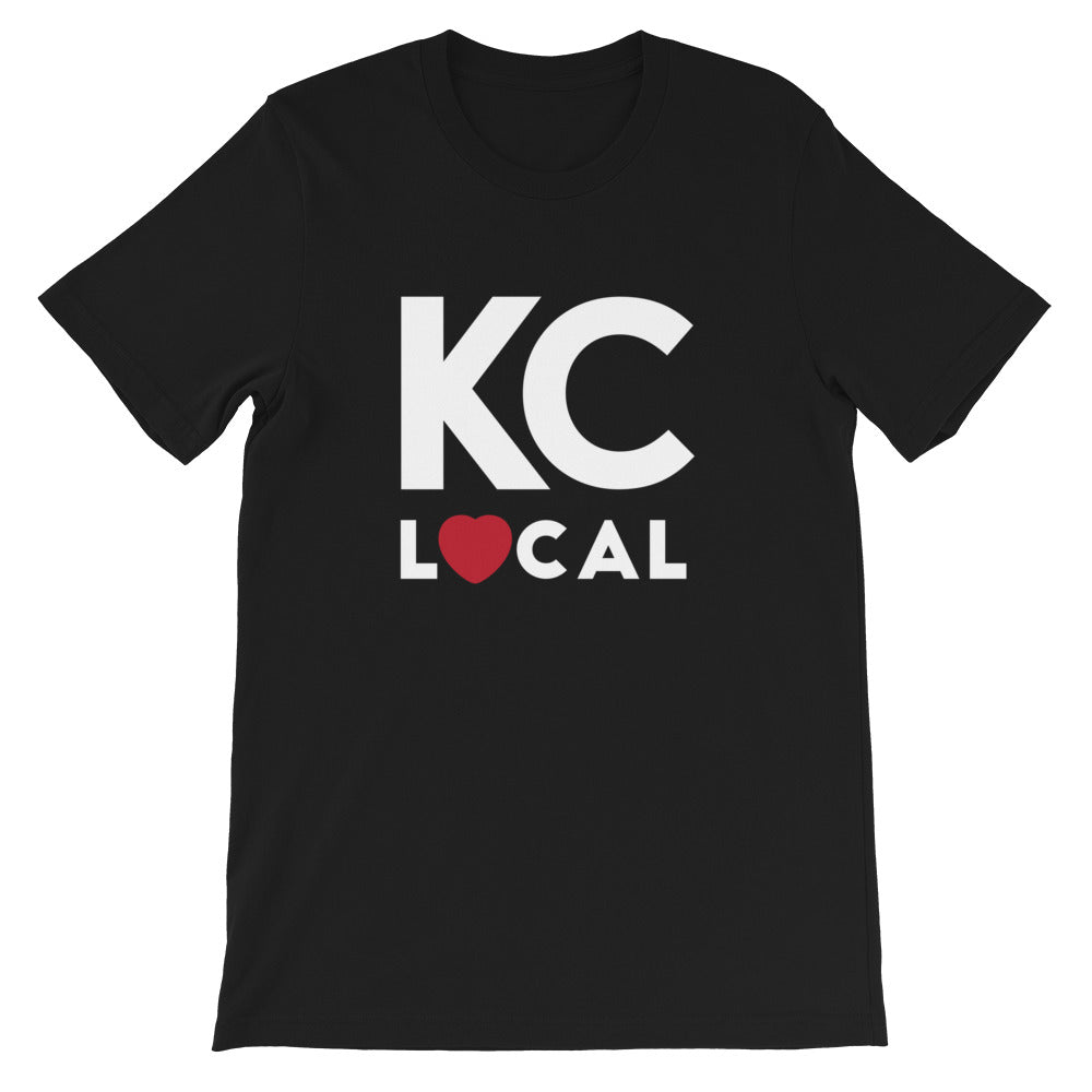 KC Local Short-Sleeve Unisex Black T-Shirt