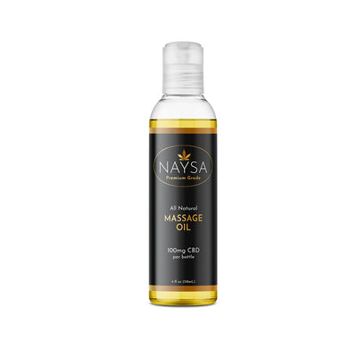 CBD Massage Oil - NAYSA - 100mg - 4 Fl Oz