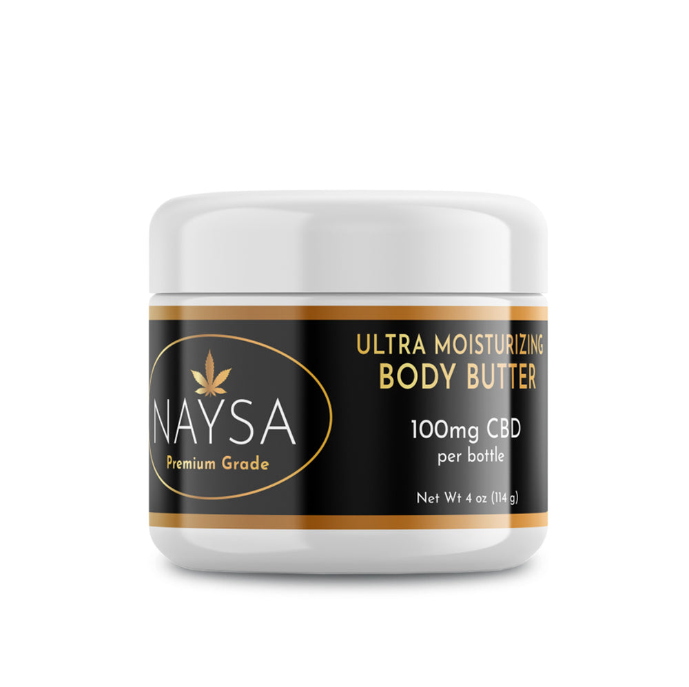 CBD Ultra Moisturizing Body Butter by NAYSA - 100mg - 4 Oz