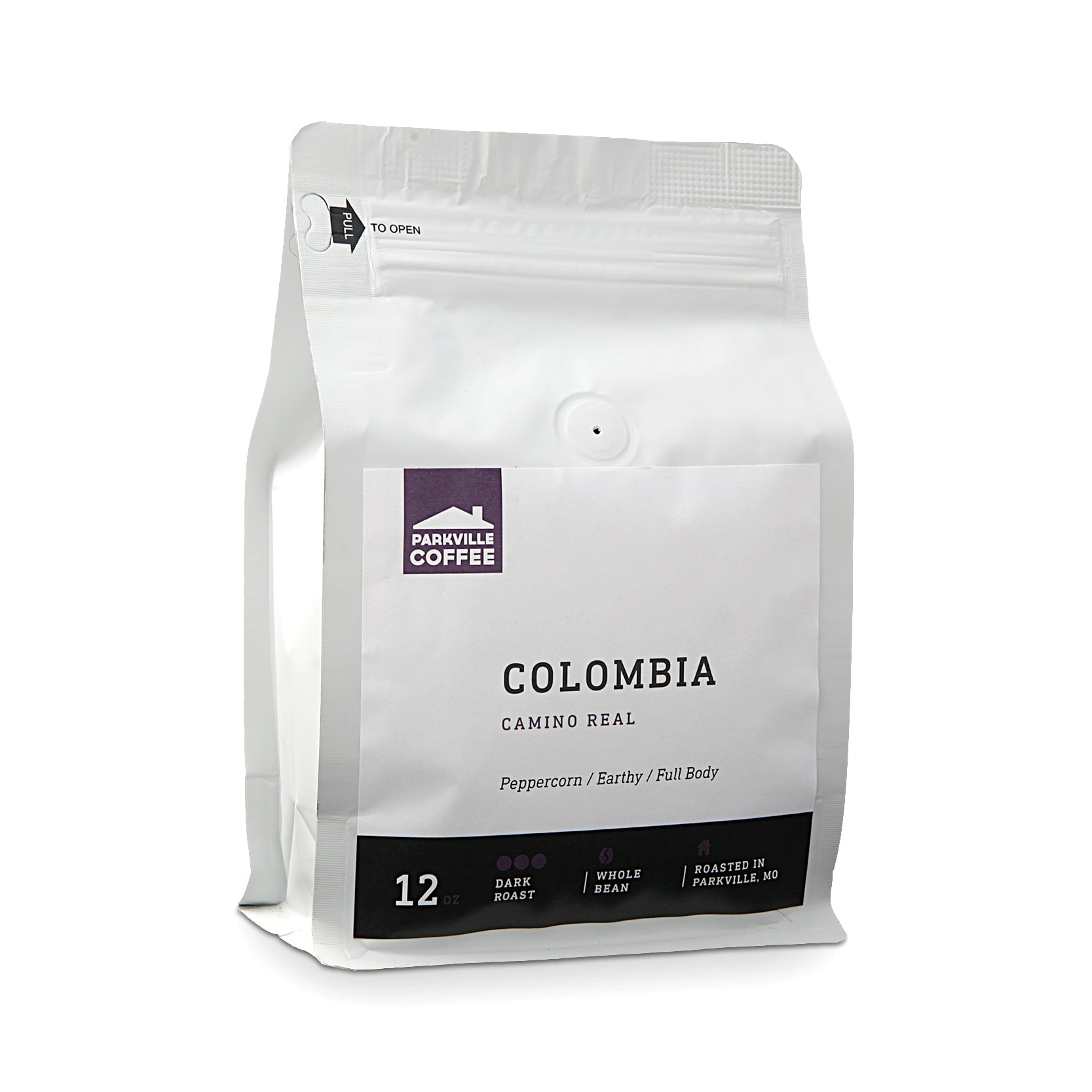 Parkville Coffee Colombia Whole Bean Coffee - 12 Oz