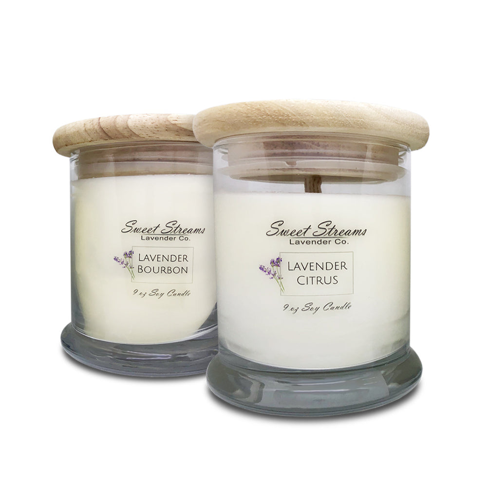 Sweet Streams Lavender Co. Glass Candle Gift Set
