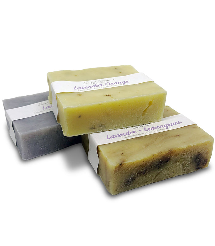 Sweet Streams Lavender Co. Vegan Bar Soap Stocking Stuffer Set