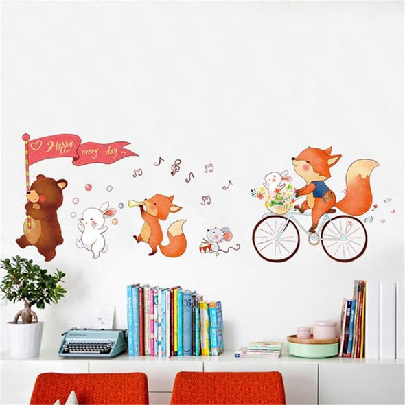 Animal Parade Home Decal