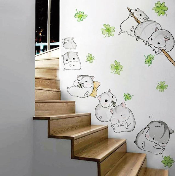 Team Hamster Wall Decals