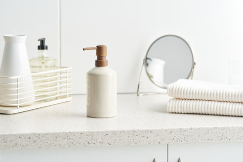 Nighttime Skincare Routine Set on Counter