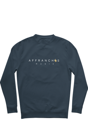 "Sweat ""Affranchis"" - Navy/Blanc/Doré"