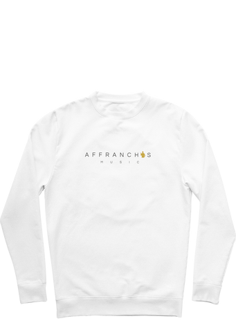 "Sweat ""Affranchis"" - Blanc/Noir/Doré"