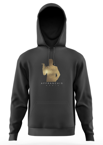 "Sweat-capuche ""Affranchis"" - Noir/Fullgold"