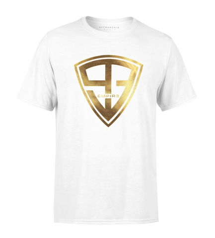 "T-shirt - ""93 Empire"" - Blanc / Full Gold"