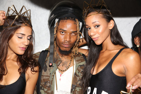 FETTY WAP ALBUM RELEASE PARTY TRAP QUEENS WXYZ THRONE CROWN GOLD