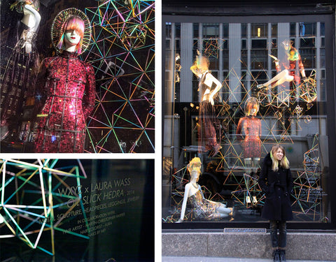 BERGDORF GOODMAN WXYZ JEWELRY 5TH AVE WINDOW INSTALLATION