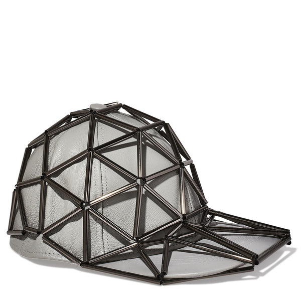 Gio Baseball Cap Hat with Leather