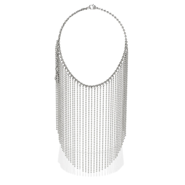 Long Ball Chain Curtain Necklace
