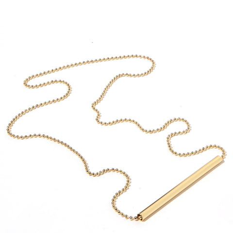 Tall Single Tube Necklace