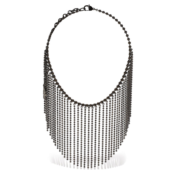 Short Ball Chain Curtain Necklace