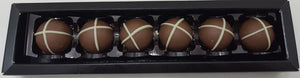 Truffles: Easter Hot Cross Bun Truffles 34% MILK: Box of 6