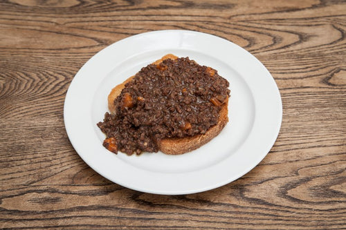 MEAL: MAIN: Mince on Toast: CB's famous mince on toast on sourdough bread.
