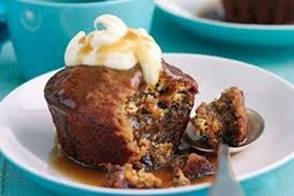 MEAL: DESSERT: Sticky Date Pudding with ice cream - Gluten Free