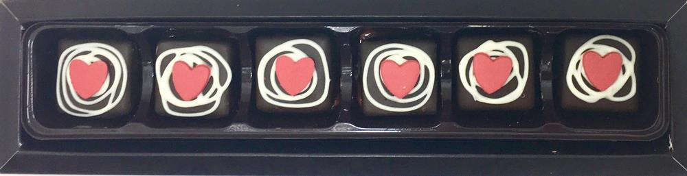 Love: Caramel Sweet Heart 53% DARK 6 Box