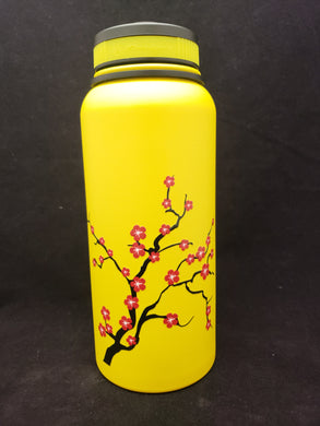 32oz Water Bottle Insulated Double Wall UV Print Plum Blossom