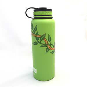 40oz. Water Bottle Insulated Double Wall UV Print Maile Lei