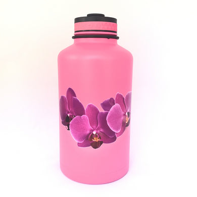62oz. Water Bottle Insulated Double Wall UV Print Pink Orchid