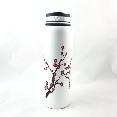 40oz. Water Bottle Insulated Double Wall UV Print Blossom