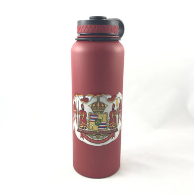 40oz Water Bottle Insulated Double Wall UV Print Coat of Arms