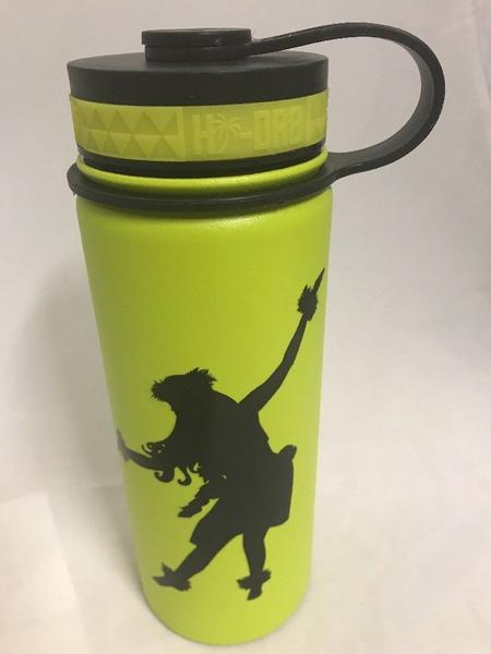 18oz Water Bottle Insulated Double Wall UV Print Kahiko Hula Dancer Hawaii