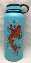Load image into Gallery viewer, 32oz Water Bottle Insulated Double Wall UV Print Hawaii Koi/Plum Blossoms