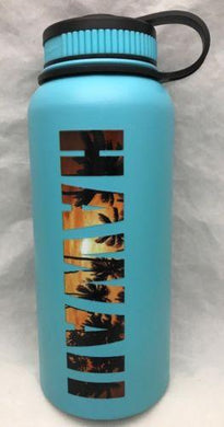 32oz Water Bottle Insulated Double Wall UV Print Hawaiian Hawaii