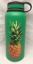 Load image into Gallery viewer, 32oz Water Bottle Insulated Double Wall UV Print Hawaii Pineapple