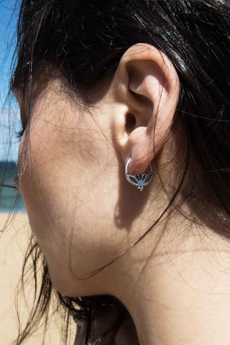 Riya Lotus Sleeper Earrings