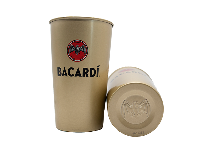 BACARDÍ Metal Gold Highball (set of 2)