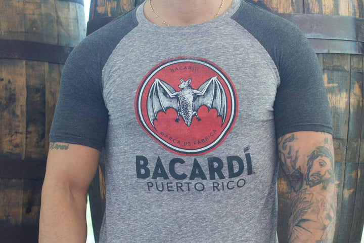 BACARDÍ Bat  Logo Charcoal T-Shirt