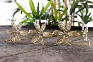 Gold Palm Tree Stirrers Set