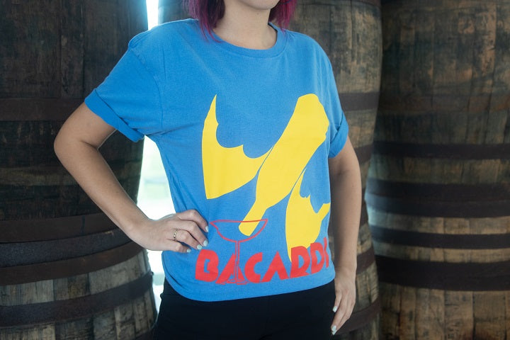 BACARDÍ T-Shirt Bat Bottle Electric Blue - Limited Sizes Only