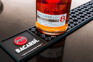 Vintage BACARDÍ  Bar Rail